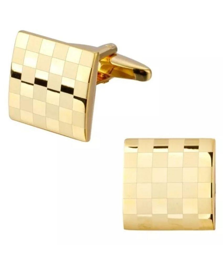 BeBold Gold Stainless Steel Cufflinks