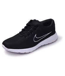 M L S Black Running Shoes