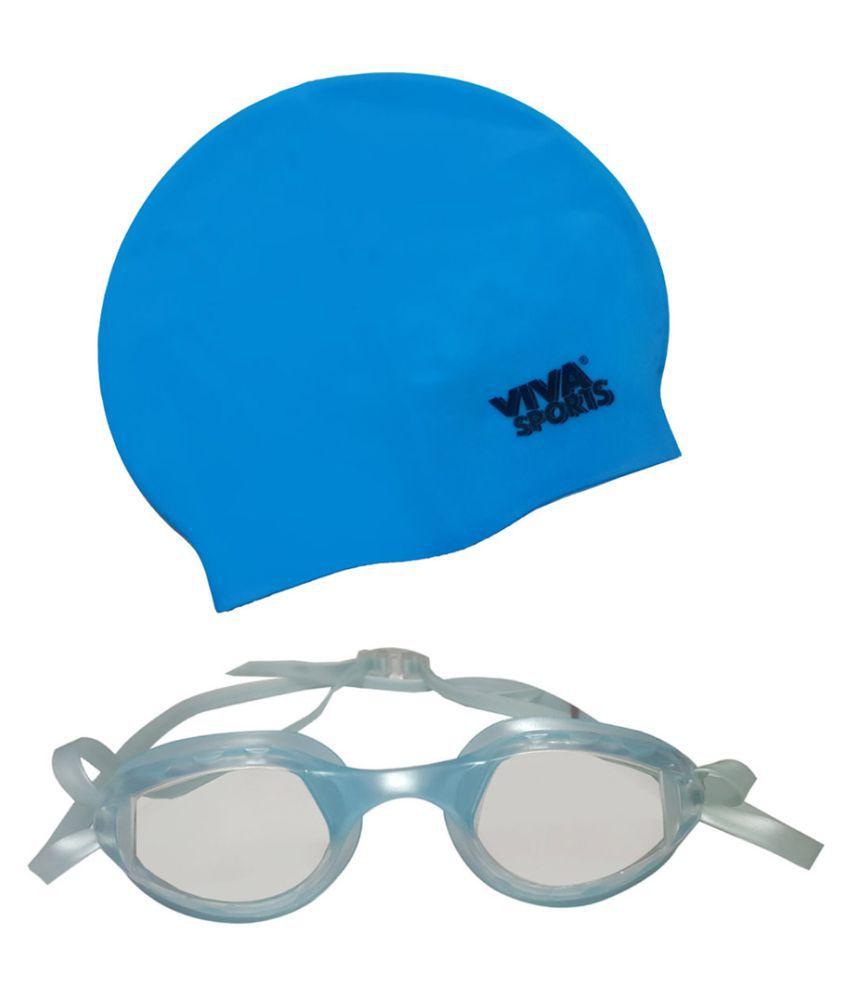 Viva Sports Sky Swimming Set (Cap and Goggles)