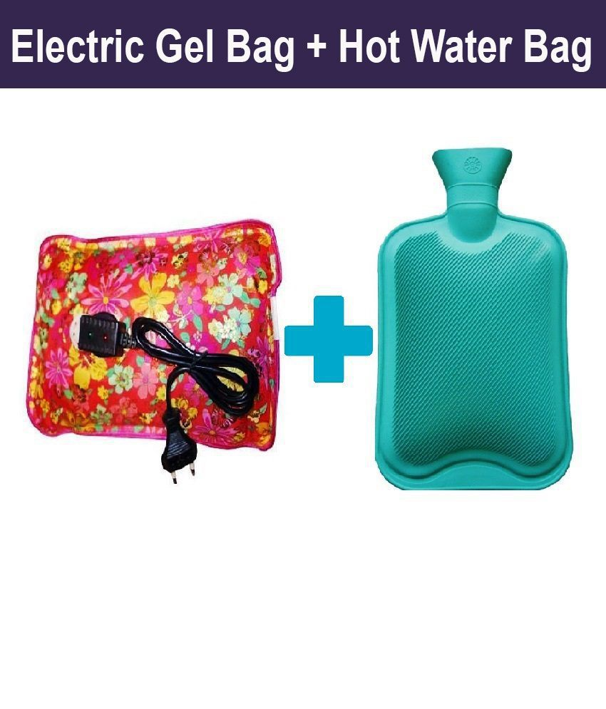 Kamlesh combo of electric gel bag and 1.5Ltr Rubber Hot Water Bag Pack Of 2