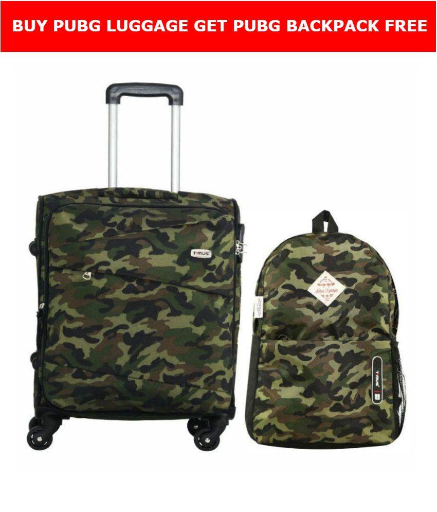 Timus Indigo Spinner Pubg 4 Wheels Travel Bag Trolley Bag Suitcase