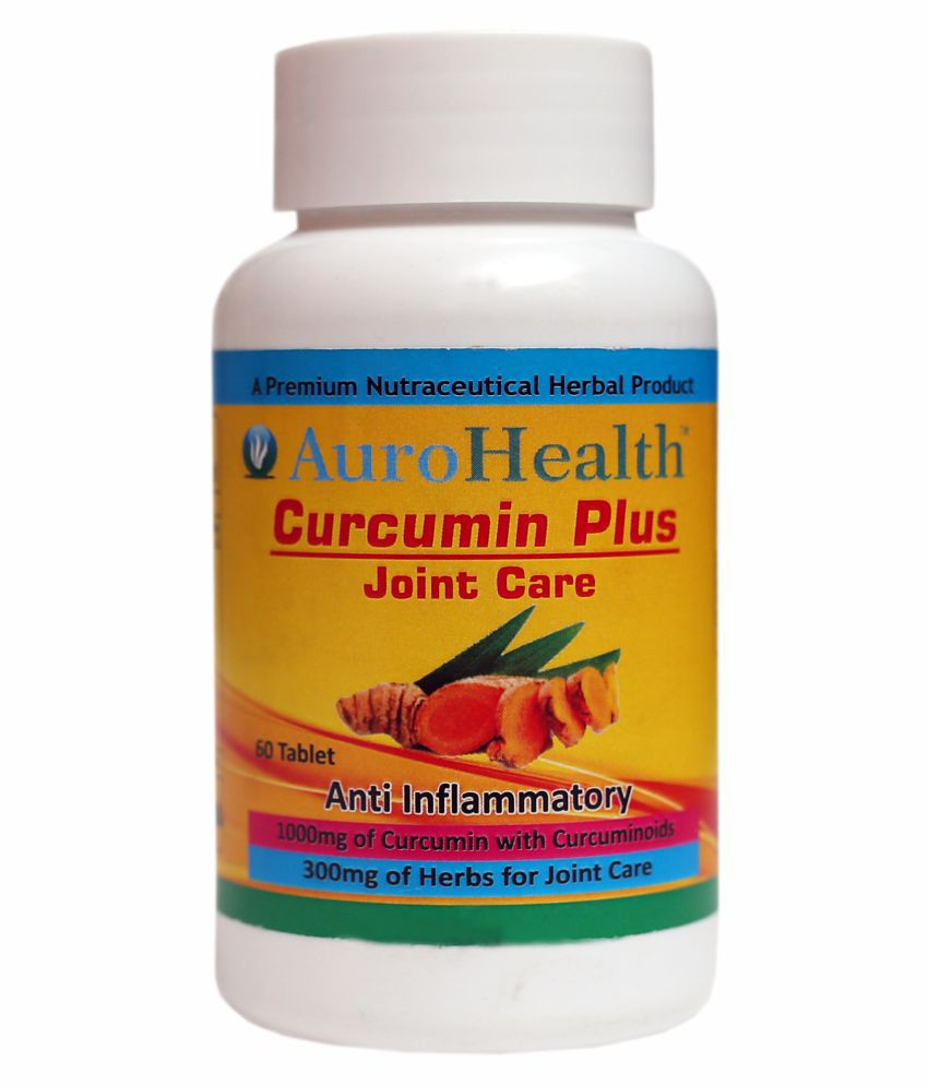 AuroHealth Curcumin Plus Anti Egging & Joint Care (1000mg) Anti Inflammatory of curcumin with curcuminoids Tablets 60 no.s