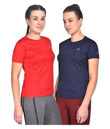 ATHLIV Polyester T Shirts - Red