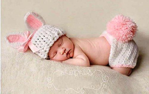 edee5c05e117a Baby Rabbit Crochet Clothing Set with 1 Shorts and 1 Cap (Pink, Mixcolour)