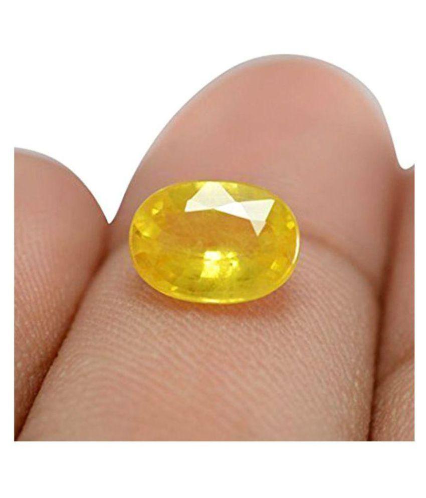 New Color gems Yellow Sapphire Pukhraj Stone Original 8.25 Ratti High Quality Loose Gemstone