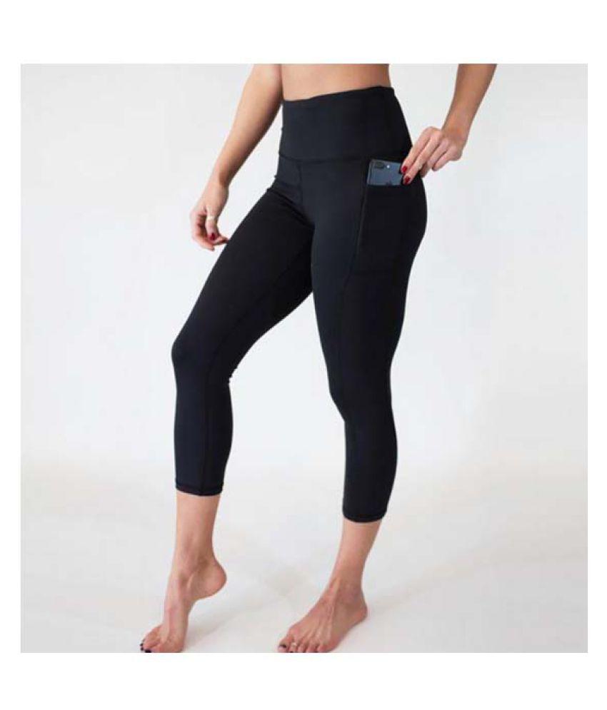 JOIE 1PC Black Women's Running Workout Pants Tight Workout Pants Yoga Pants