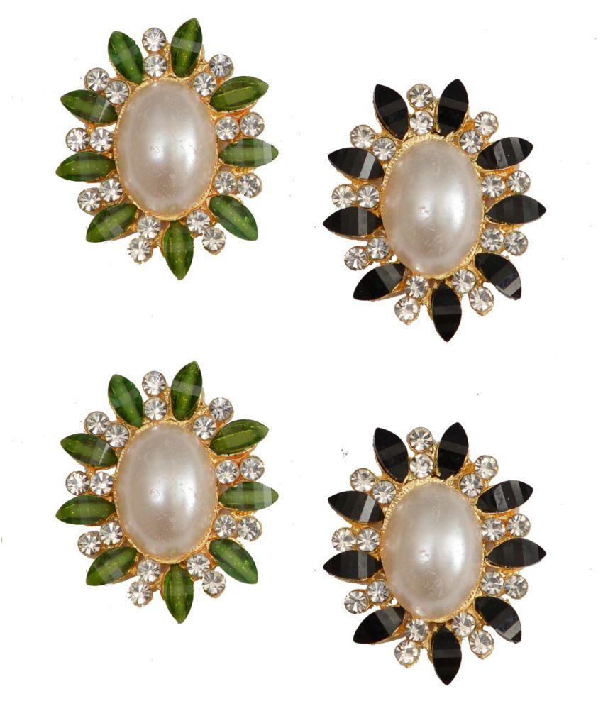 Taj Pearl Designer Two pairs Stud earrings