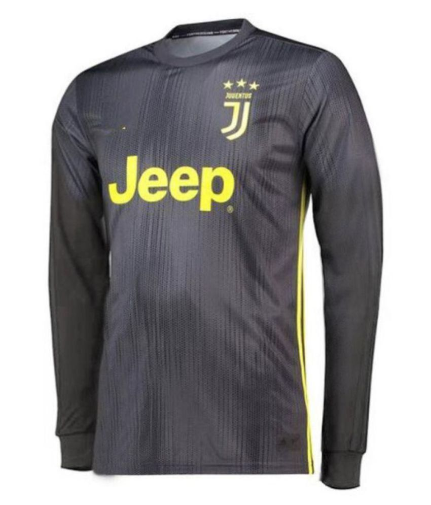 newest ec827 f14e1 Juventus Black Long-Sleeve Jersey with shorts 2018-2019