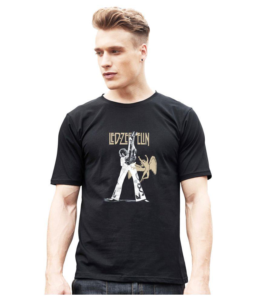 Mankee Tees 100 Percent Cotton Black Printed T-Shirt