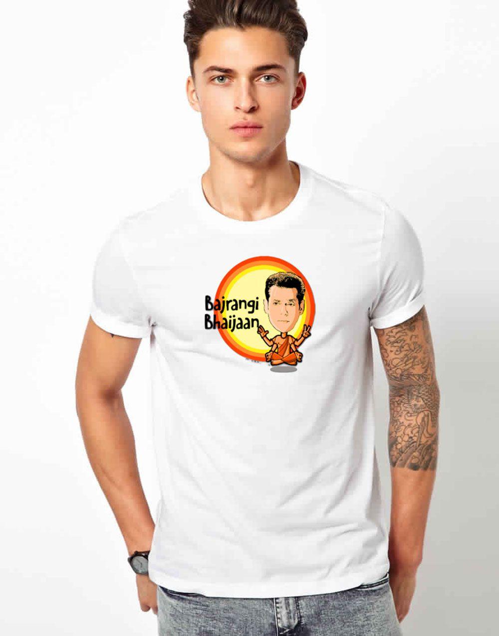 Wacky Cotton Blend white Printed T-Shirt