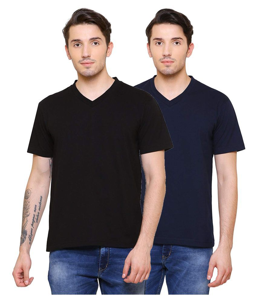 Shaurya-F 100 Percent Cotton Multi Solids T-Shirt