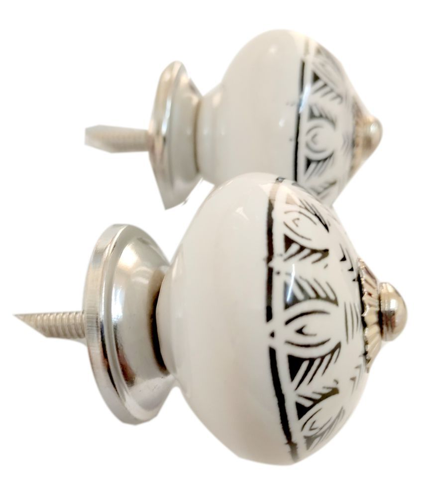Artshai Home Decor Hardware Ceramic Knobs for Cabinets & Cupboards Drawer Pulls Pack of 2 pcs
