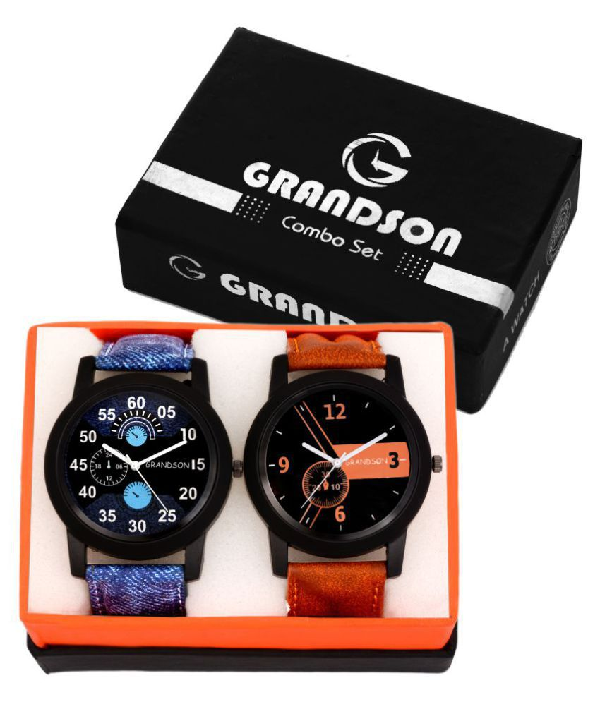 Grandson Attractive Set of 2 Watches for Boys