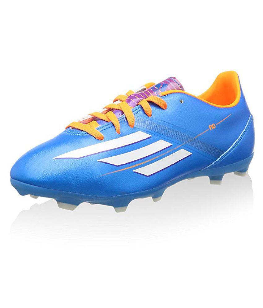 Adidas F10 TRX FG J Blue Football Shoes