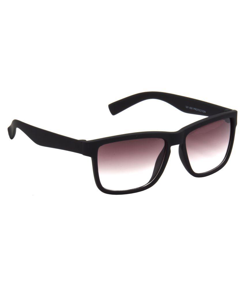 Hrinkar Purple Rectangle Sunglasses ( HRS467-BK-PNK )