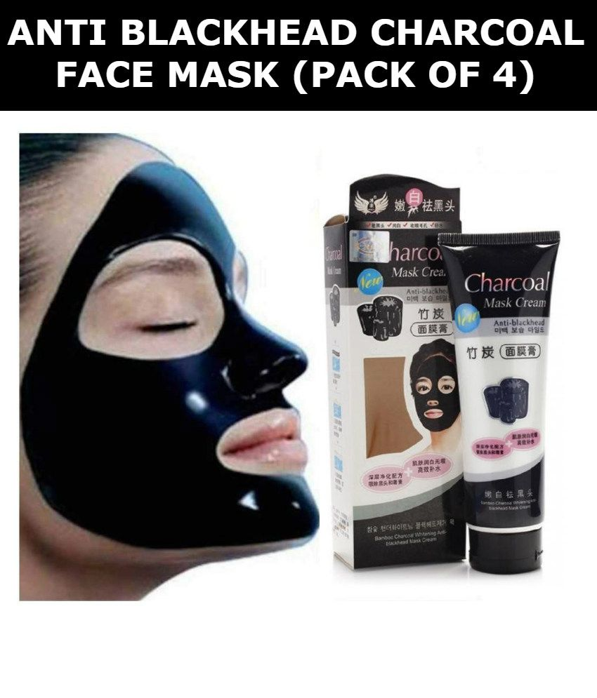 charcoal face mask anti blackhead pack of 4 130g each buy rh snapdeal com