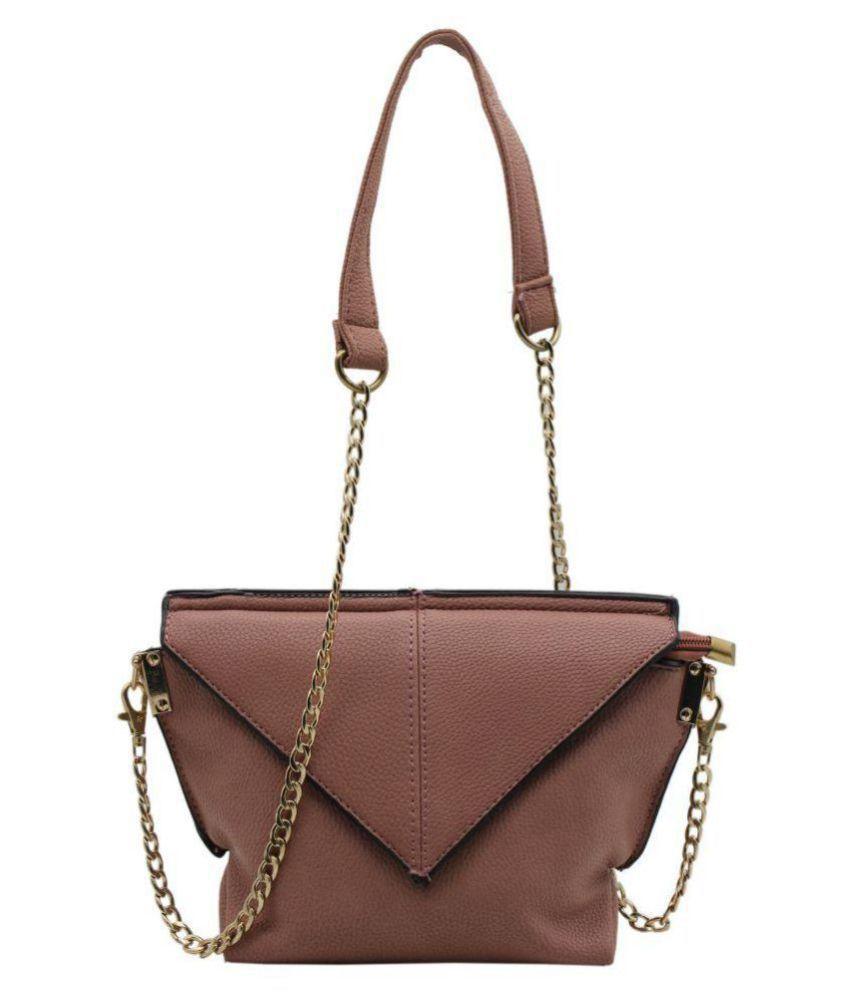 Trendy Pink P.U. Sling Bag