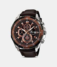 Men Fashion EX194 Brown Leather Strap Analog Watch