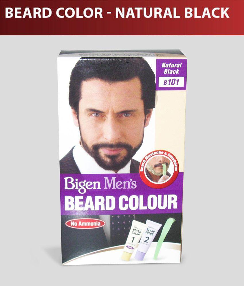 Bigen Men\'s Beard Color B-101 Natural Black: Buy Bigen Men\'s Beard ...