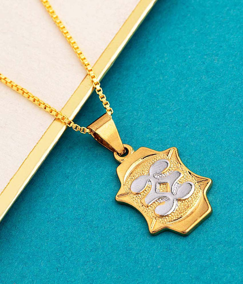 Dare by Voylla Royal Two Tone Plated Pendant With Chain
