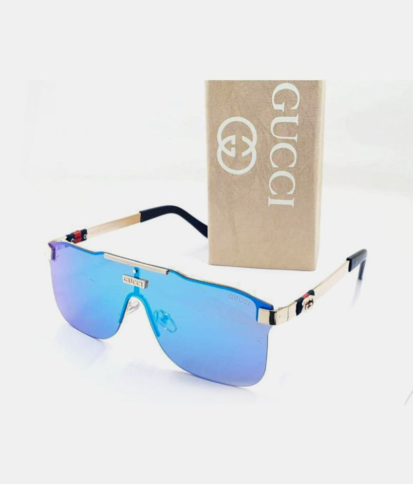 c33604cc8a42f Gucci New Blue Aviator Sunglasses ( G39 ) - Buy Gucci New Blue Aviator  Sunglasses ( G39 ) Online at Low Price - Snapdeal