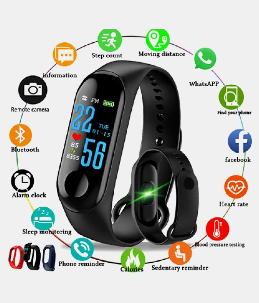 70063431a25 M3 Smart Band With Heart Rate Sensor Features And Many Other Impressive  Features