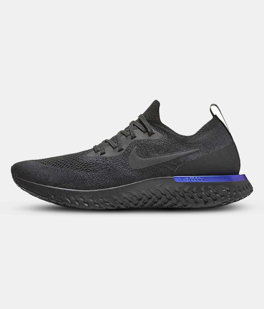 buy popular 838e1 6f086 Nike 2018 Epic React Flyknit Black Running Shoes - Buy Nike 2018 Epic React  Flyknit Black Running Shoes Online at Best Prices in India on Snapdeal