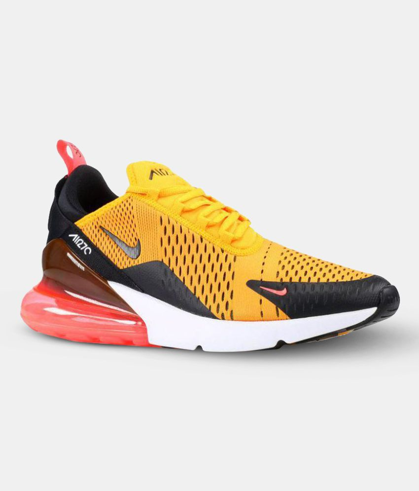 pretty nice a0191 1b657 Nike AIR MAX 270 TIGER Yellow Running Shoes - Buy Nike AIR MAX 270 TIGER Yellow  Running Shoes Online at Best Prices in India on Snapdeal