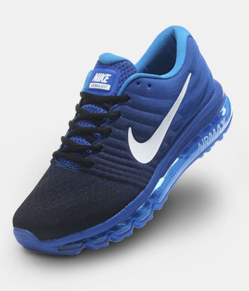 f138b6692b Nike Airmax 2017 Blue Running Shoes - Buy Nike Airmax 2017 Blue Running  Shoes Online at Best Prices in India on Snapdeal