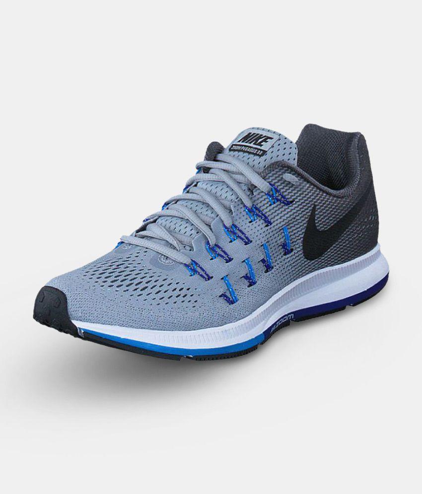 Nike Pegasus 33 Grey Running Shoes