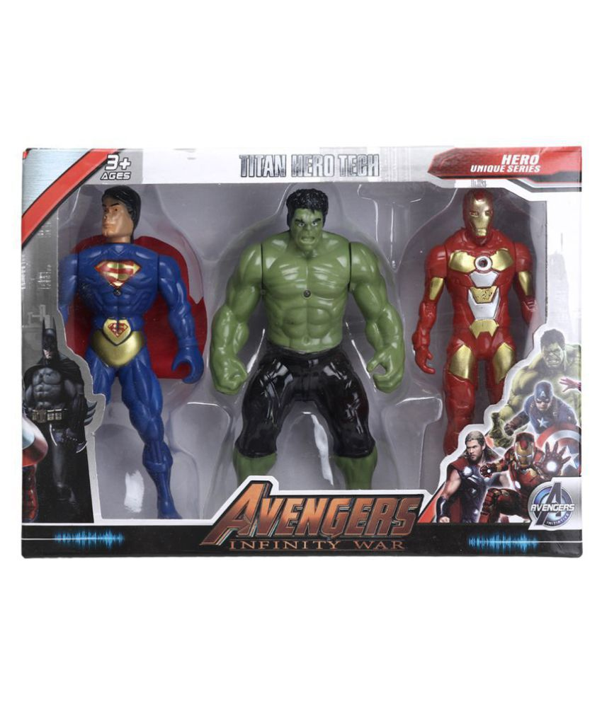 AS Avengers Infinity War Action Figure of 3 Super Heroes (Deluxe Size)  (Multicolor)