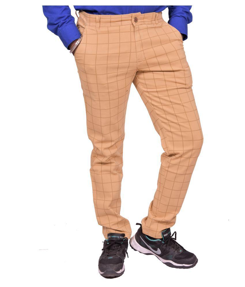 Just Trousers Khaki Slim -Fit Flat Chinos