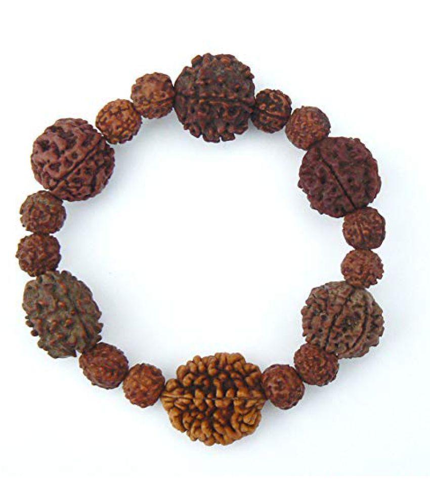 Rudraksha Bracelet Shiva Men Spiritual Yoga Jewelry 2 3 4 5 6 7 Mukhi Seed