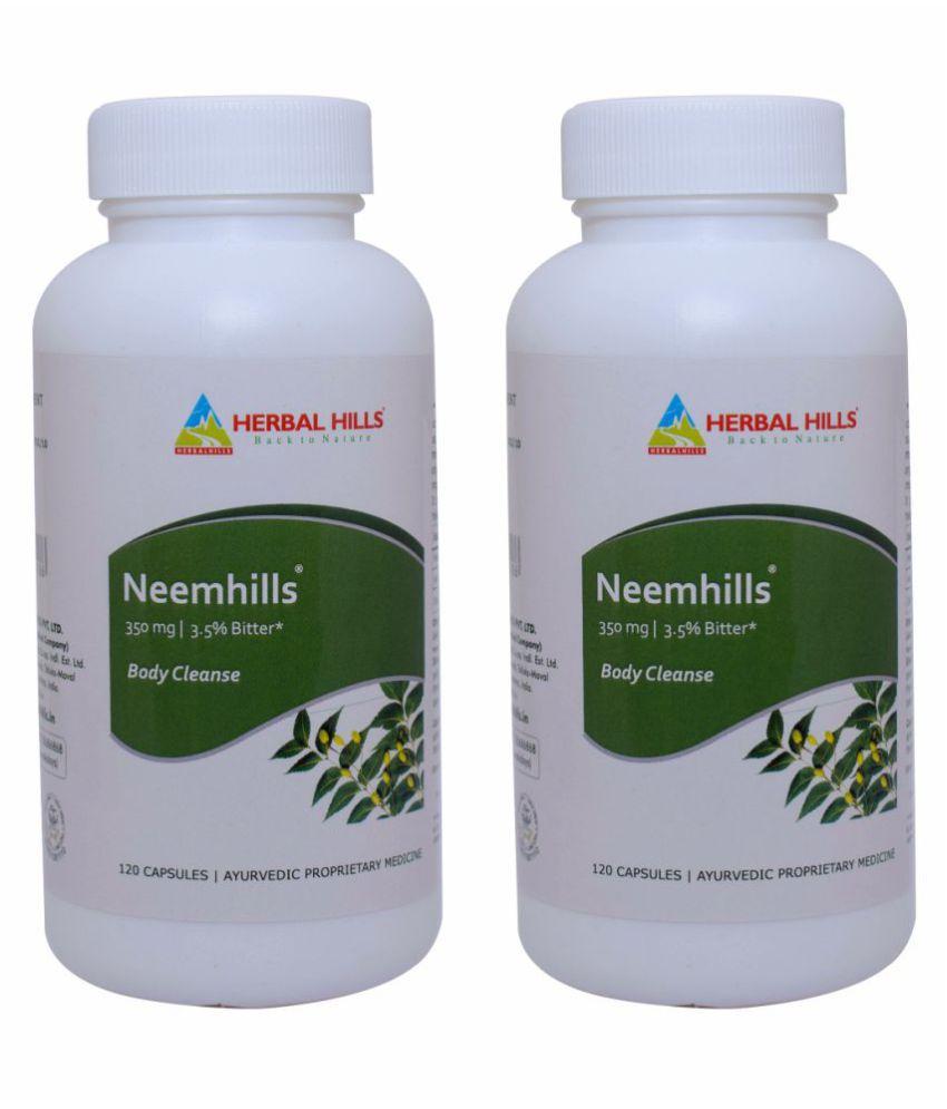 Herbal Hills Neemhills 120 (Pack of 2) Capsule 350 mg
