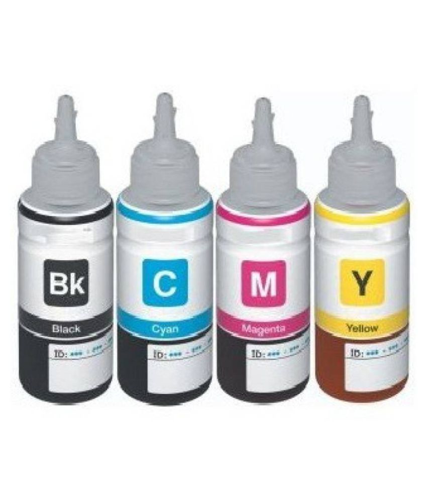 Kataria Refill Ink Multicolor Pack of 4 Ink bottle for For Use In L110 InkJet Printer