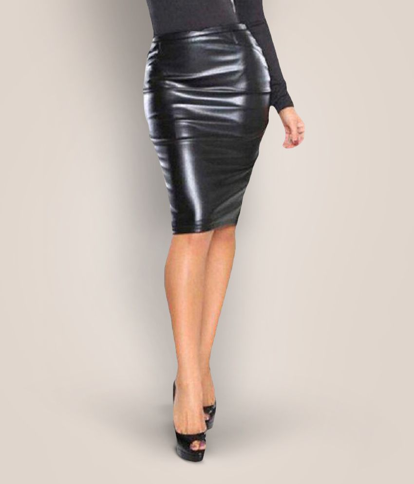Timbre Faux Leather Pencil Skirt