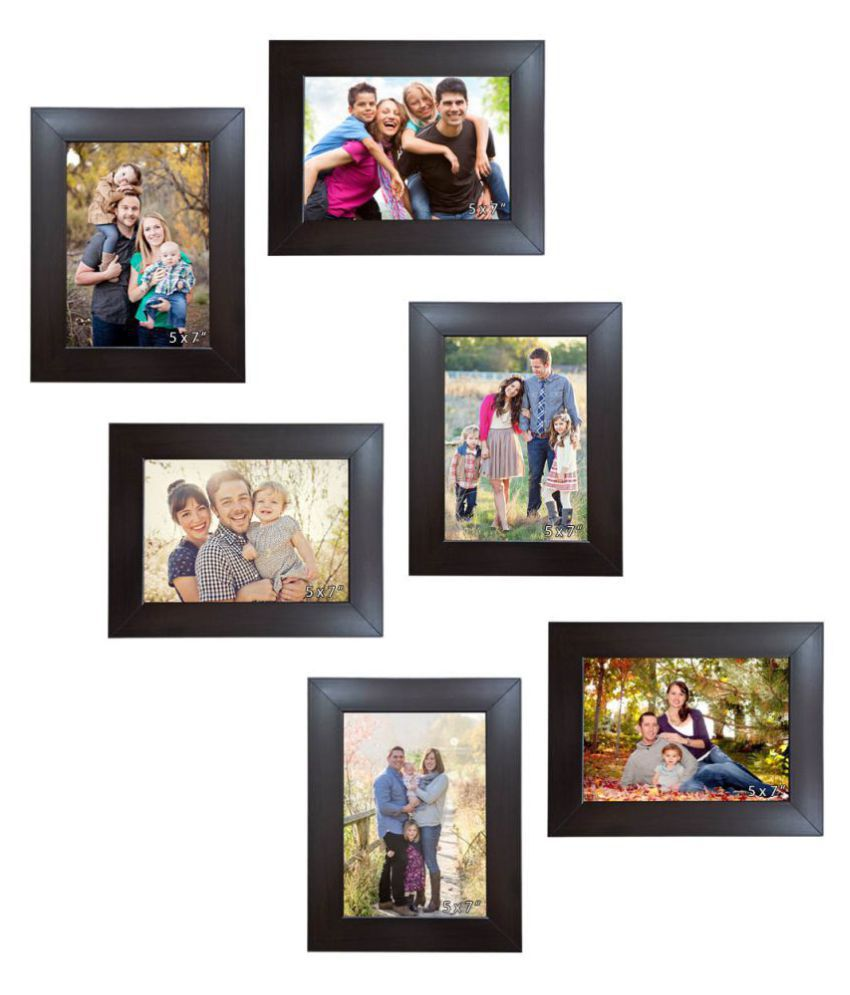 Allure Acrylic Brown Photo Frame Sets - Pack of 6