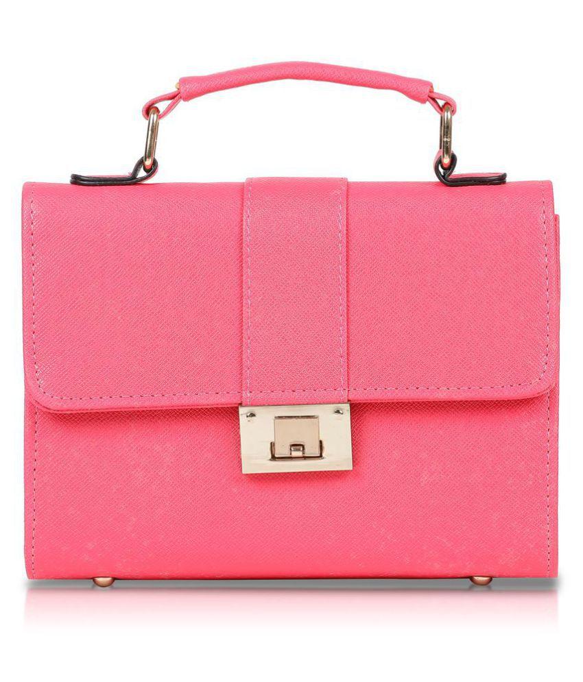 Fiona Trends Pink P.U. Sling Bag