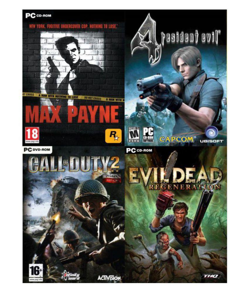 Max Payne, Resident Evil 4, COD 2, Evil Dead TOP 4 Game (Offline) ( PC Game  )