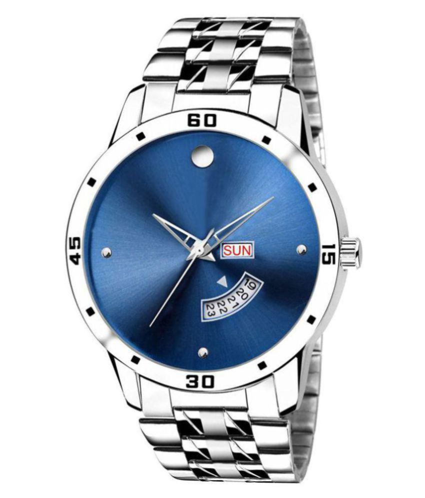 newmen stylish day&date Stainless Steel Analog Men's Watch