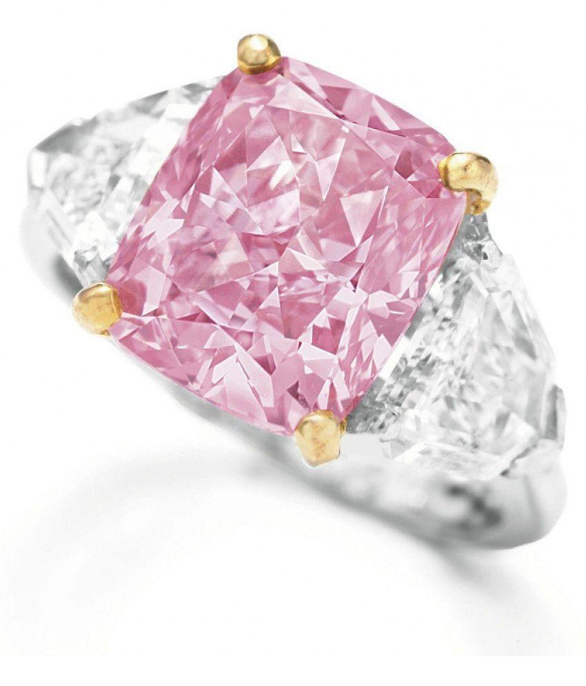 Exquisite Pink Diamond Geometric Round Edge Square Ring Ladies Jewelry Gift Fashion Jewellery