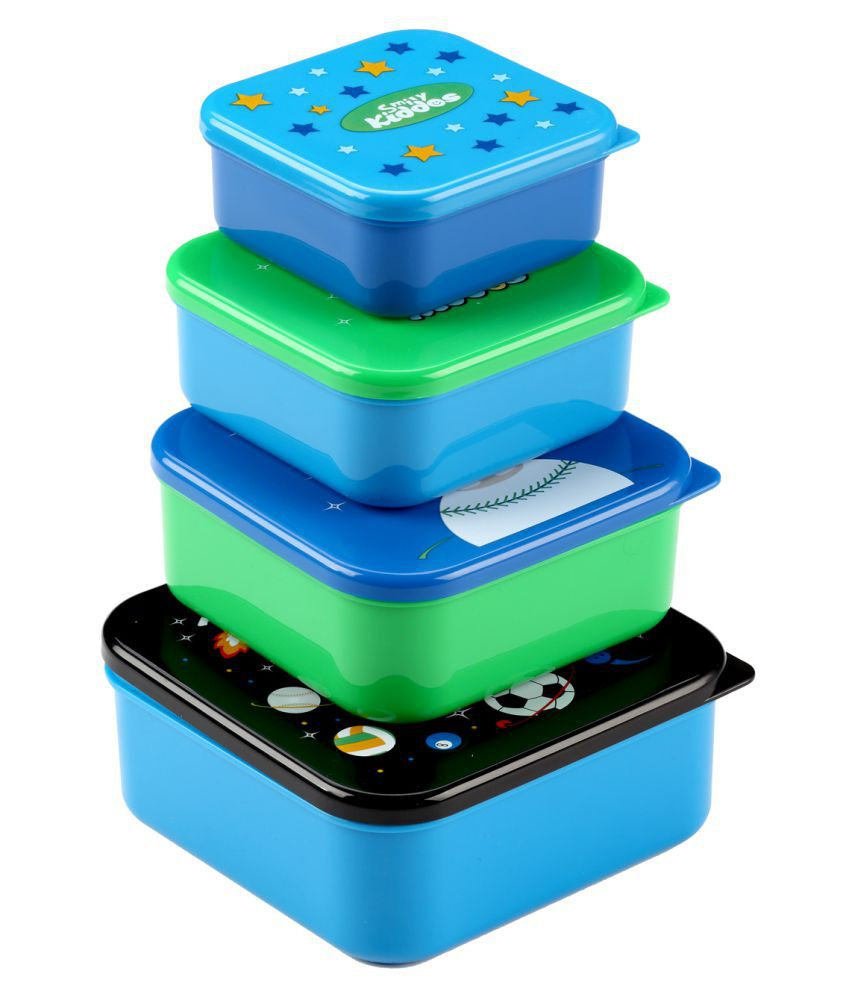 Smily Kiddos Polyproplene Food Container Set of 4 3 mL