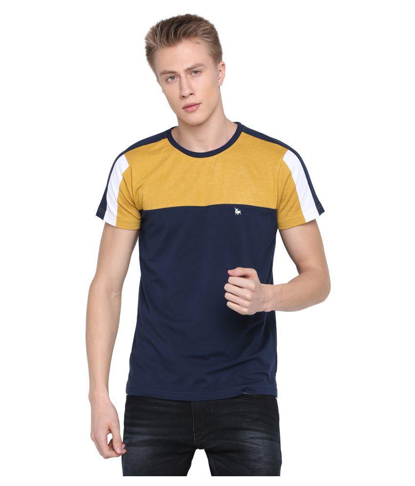 BULLMER Yellow Half Sleeve T-Shirt