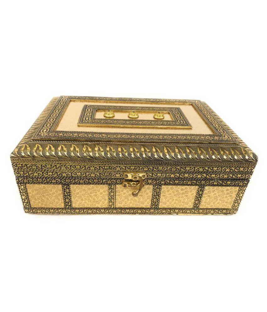 5071b16bd ... Oxidised Meenakari Work Jewelry Box, Antique Wooden Red Velvet Box,  Golden Work antique look ...