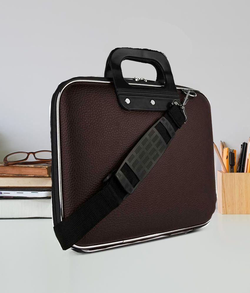 Home Story Brown PU Leather Office Laptop Bag With String 15 Inch/Side Bag Cross Bag Leather Bag Men Man Side Bag Gents Bag Men Side Bag One Side Bag Men Carry Bag Men