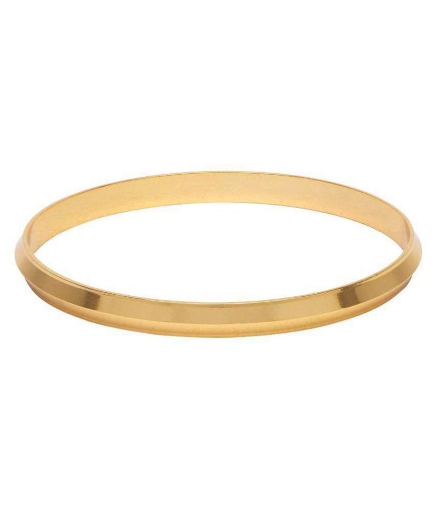 shankhraj mall gold plated sikhi style brass kada braselet for men(2-12)-10062