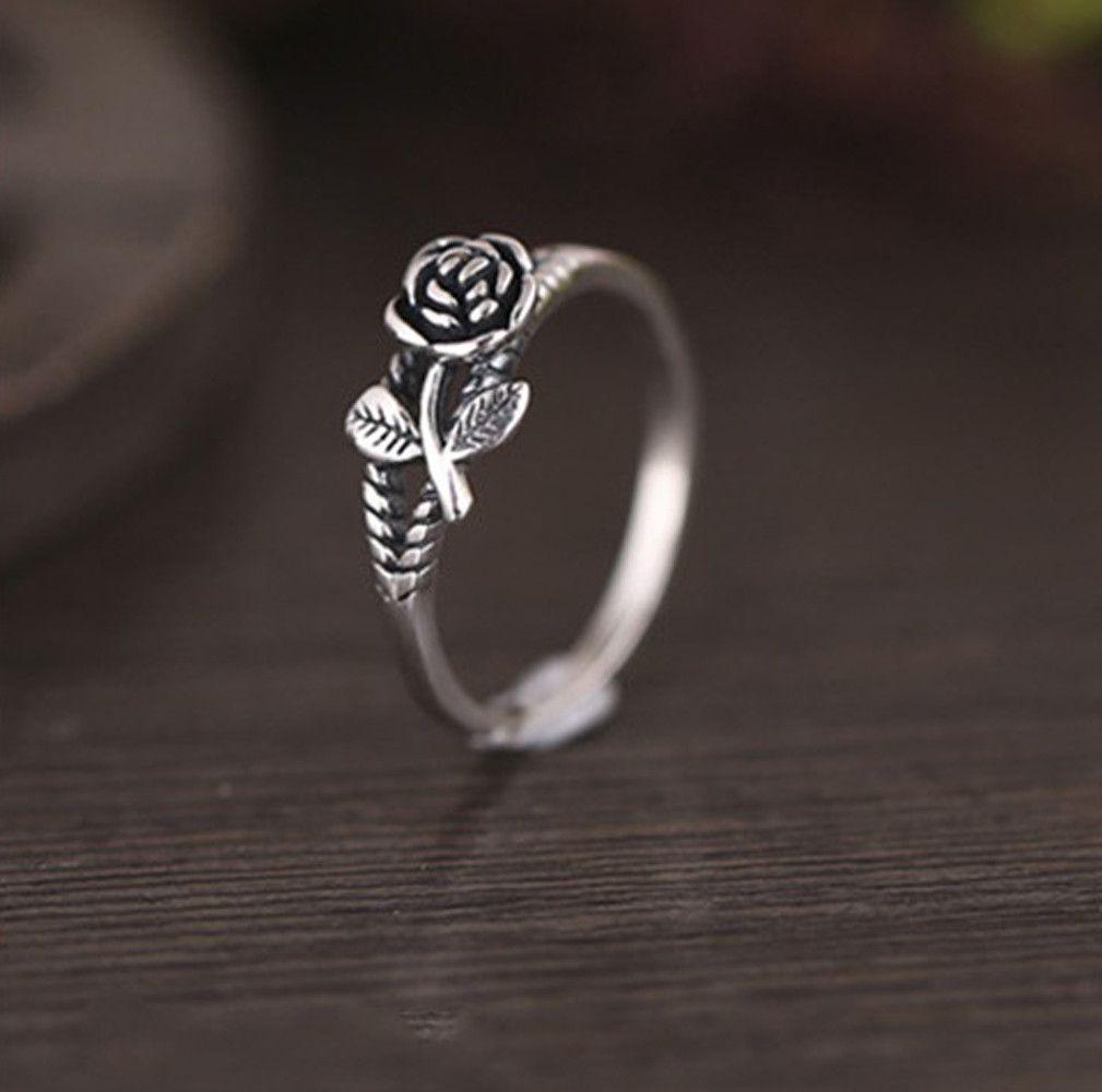 Fashion Elegant Creative Rose Ring Retro Ring Wedding Party Women Jewelry Fashion Jewellery