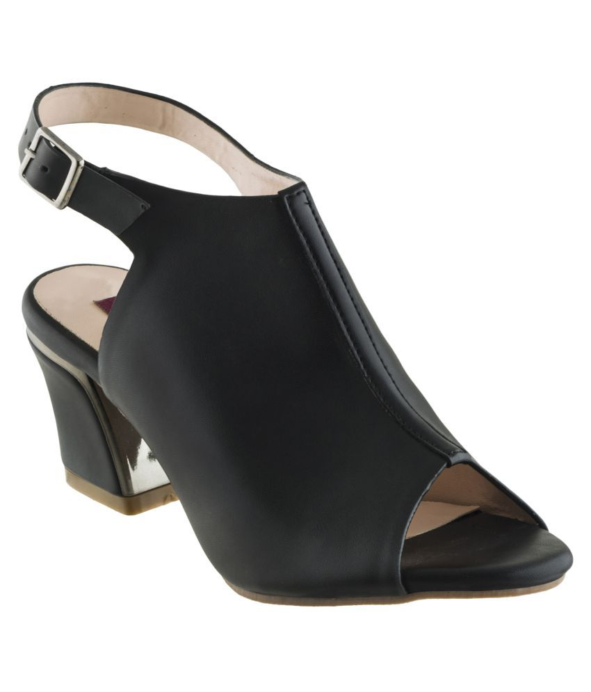 Shuz Touch Black Block Heels
