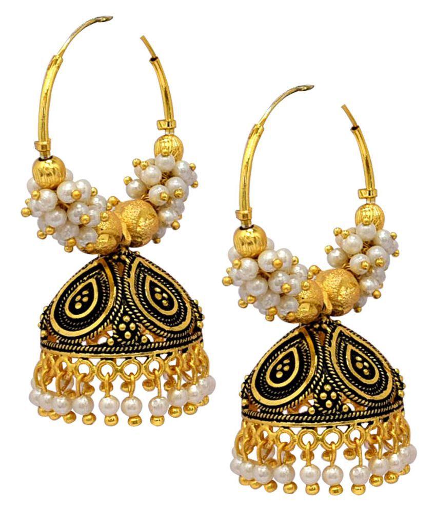 Steorra Jewels Kundan & pearl Ethnic Earings for Women and Girls
