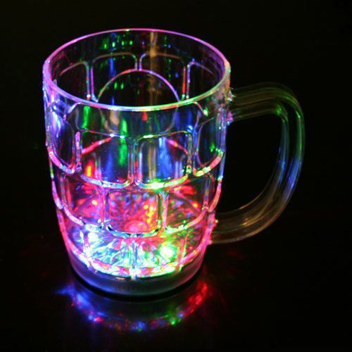 Vipra Light Changing Beer Mug With Inductive Rainbow Color Disco Led 7 Colour